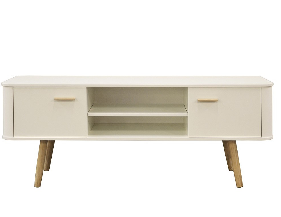 Scandinavian Style White & Oak TV Stand